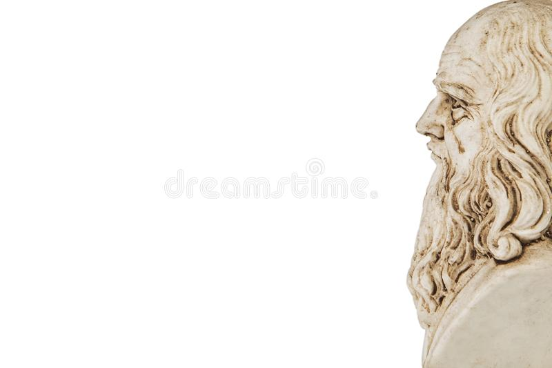Fond blanc de perspective de Leonardo da Vinci images stock