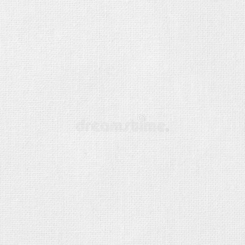 Fond blanc de texture de tissu de coton, mod?le sans couture de textile naturel image libre de droits