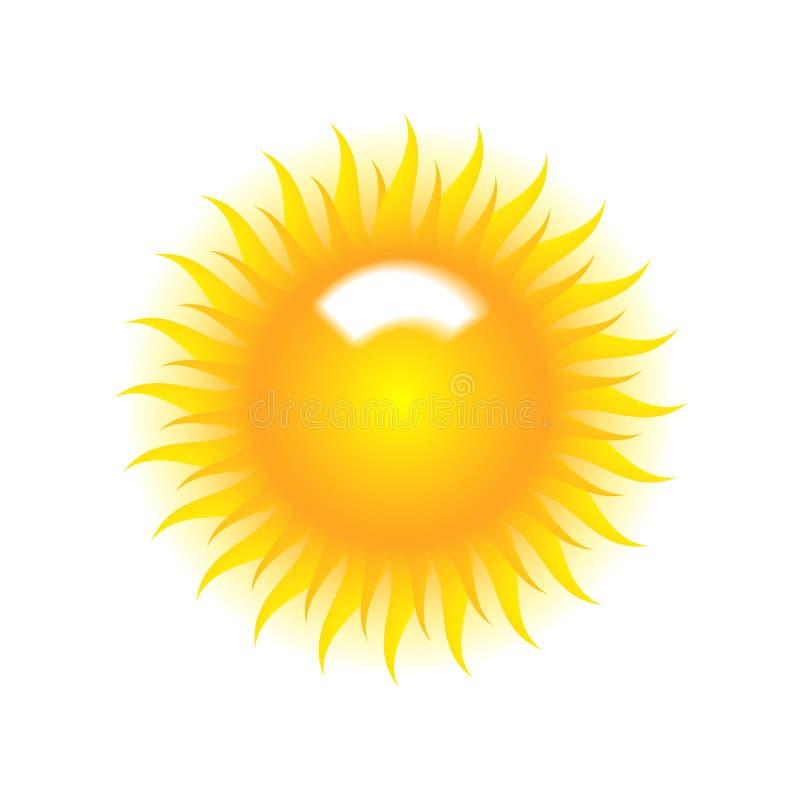 Fond blanc de vecteur avec l'effet d'éclat du soleil illustration de vecteur