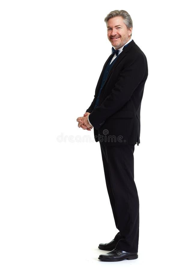 Fond blanc debout d'homme photo stock