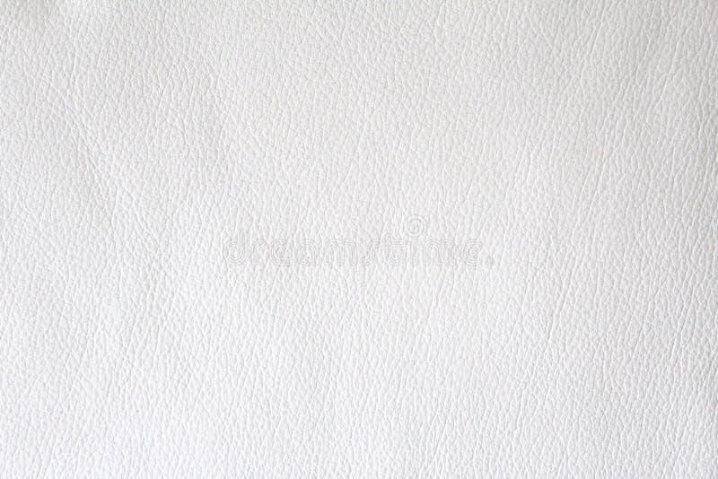 Fond blanc en cuir naturel de texture images stock
