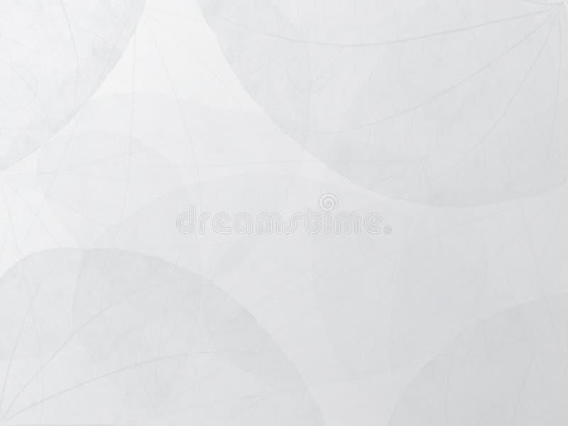 Fond blanc et gris avec le modèle de feuille photos libres de droits