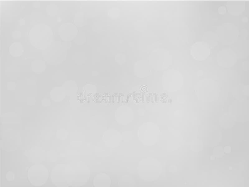 fond blanc gris de gradient avec l'effet de bokeh Modèle brouillé par résumé Illustration transparente de recouvrement de vecteur illustration libre de droits