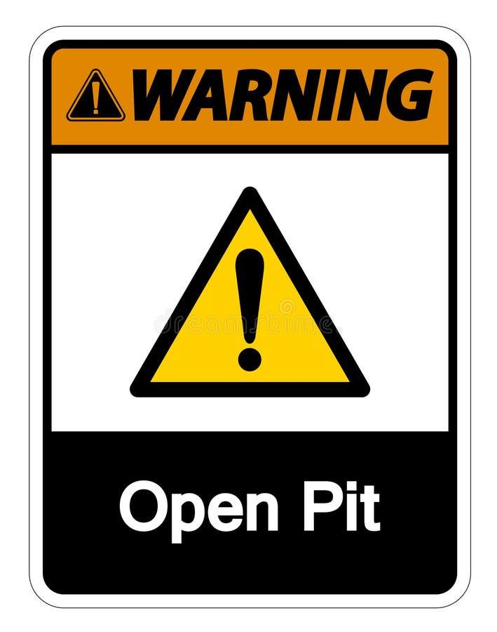 Fond blanc ouvert de avertissement de Pit Symbol Sign Isolate On, illustration de vecteur illustration libre de droits