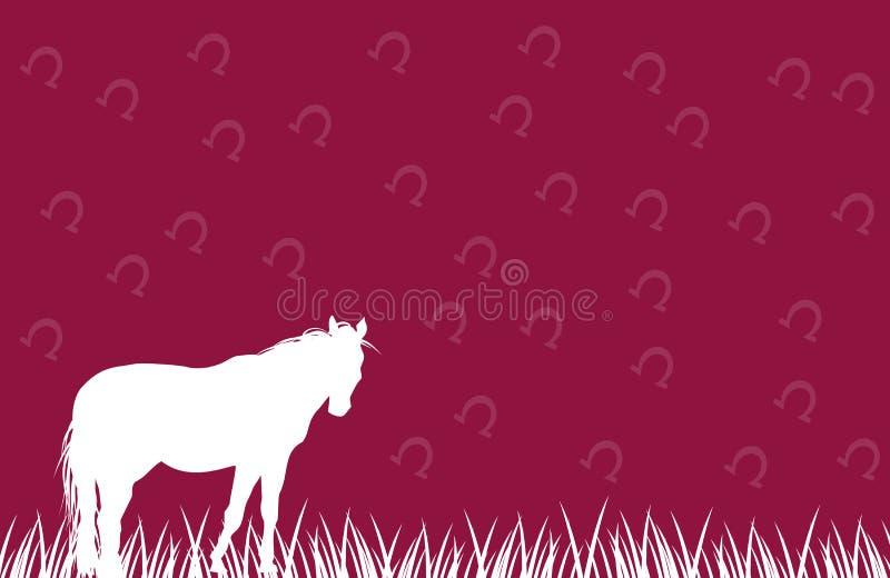 Fond blanc rose de cheval illustration de vecteur