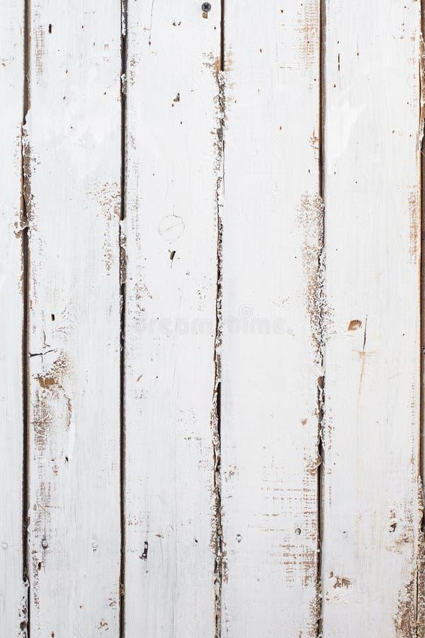 Fond blanc rustique de conseil en bois, vieille texture images stock