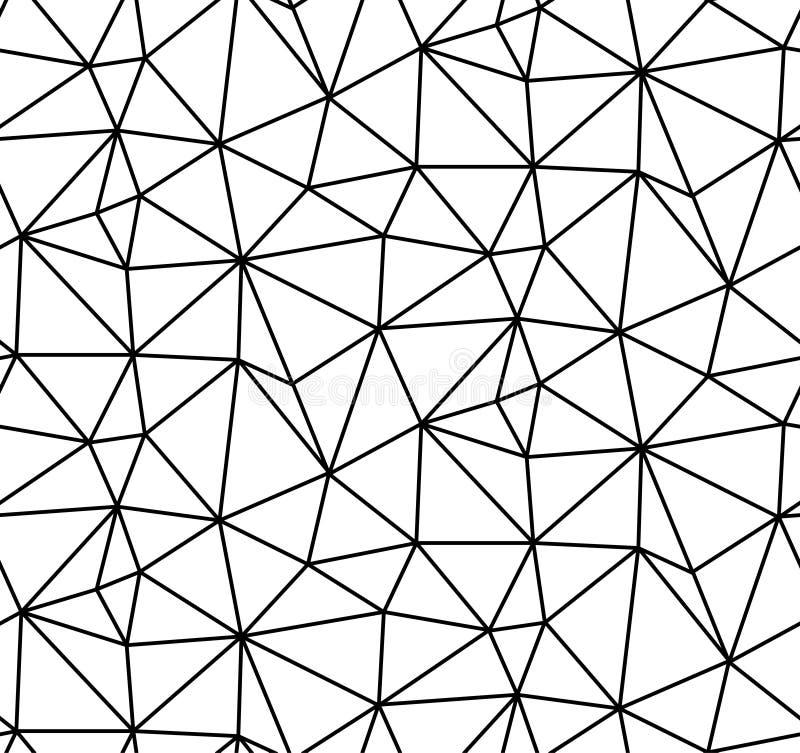 Fond blanc sans couture de vecteur abstrait des lignes noires illustration stock