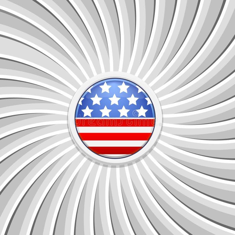 Fond blanc sur le thème du 4 juillet illustration stock