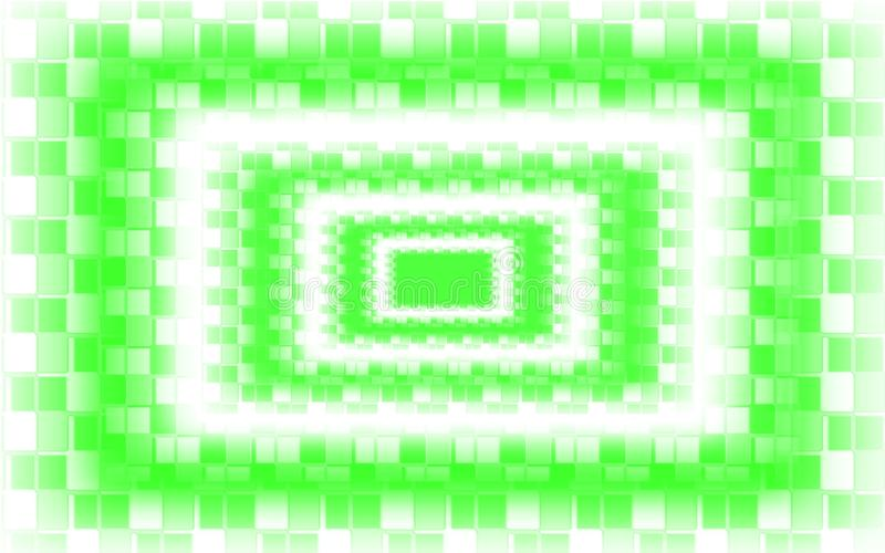 Fond blanc vert de mosaïque - papier peint vert de modèle de places illustration de vecteur