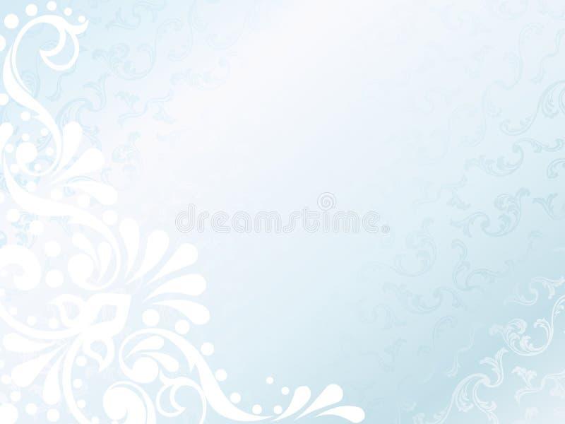 Fond blanc victorien de satin, horizontal illustration stock