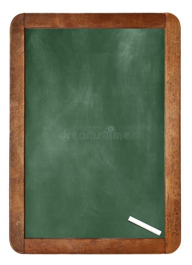 Fond/blanc vides de panneau de craie Une craie blanche sur le fond/blanc vides de panneau de craie photos libres de droits