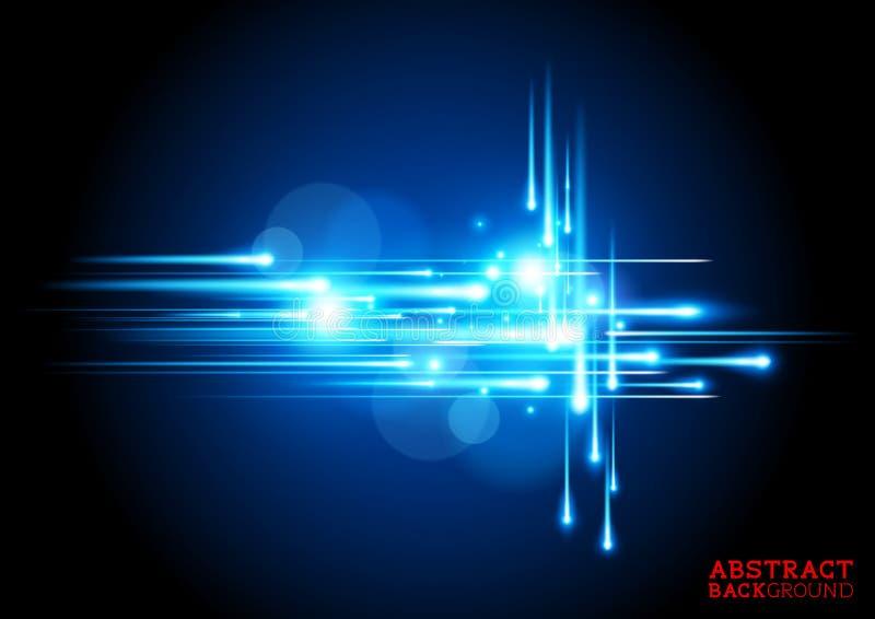 Fond bleu électrique illustration libre de droits