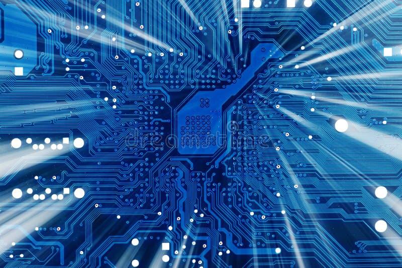 Fond bleu électronique industriel de technologie image stock