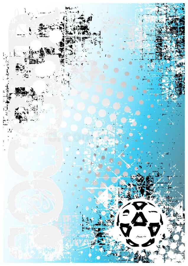 Fond bleu 1 d'affiche du football illustration stock