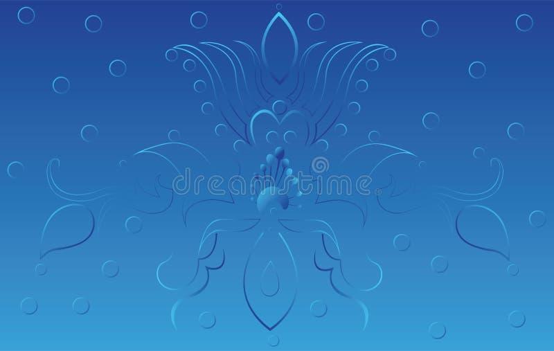 Fond bleu image stock