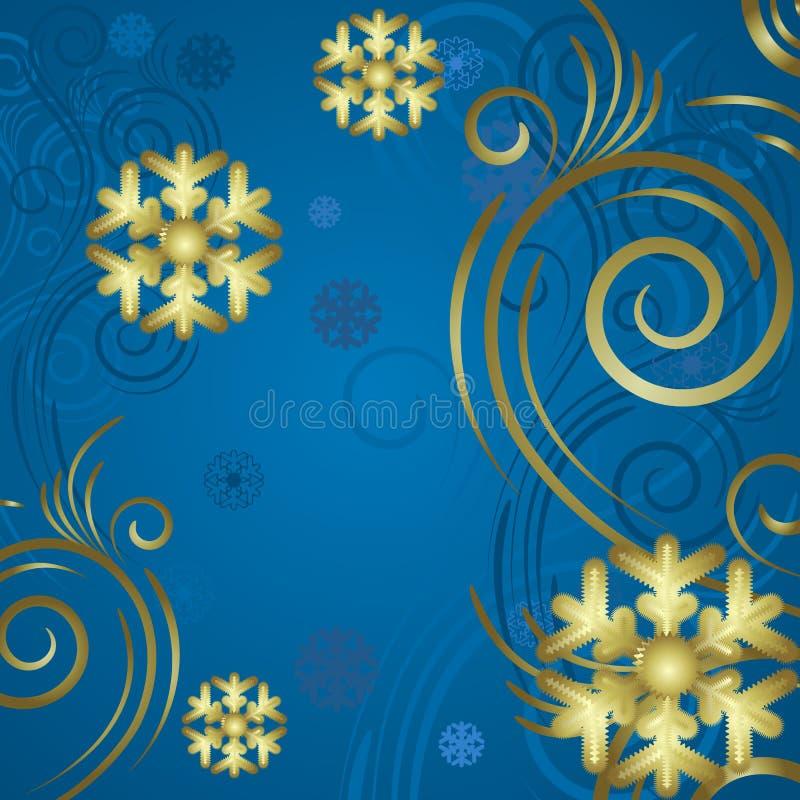 Fond bleu illustration de vecteur