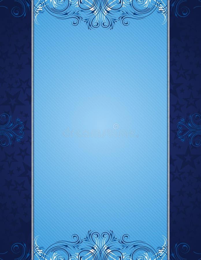 Fond bleu illustration stock
