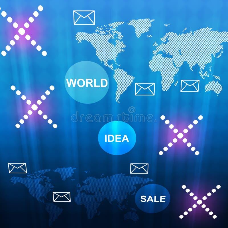 Fond bleu abstrait avec des croix image stock