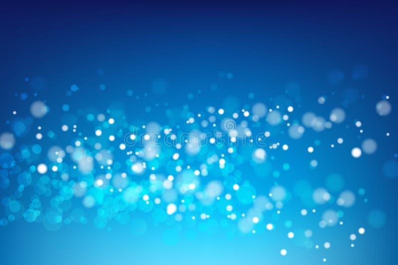 Fond bleu abstrait avec l'illustration légère 00 de vecteur de bokeh illustration libre de droits
