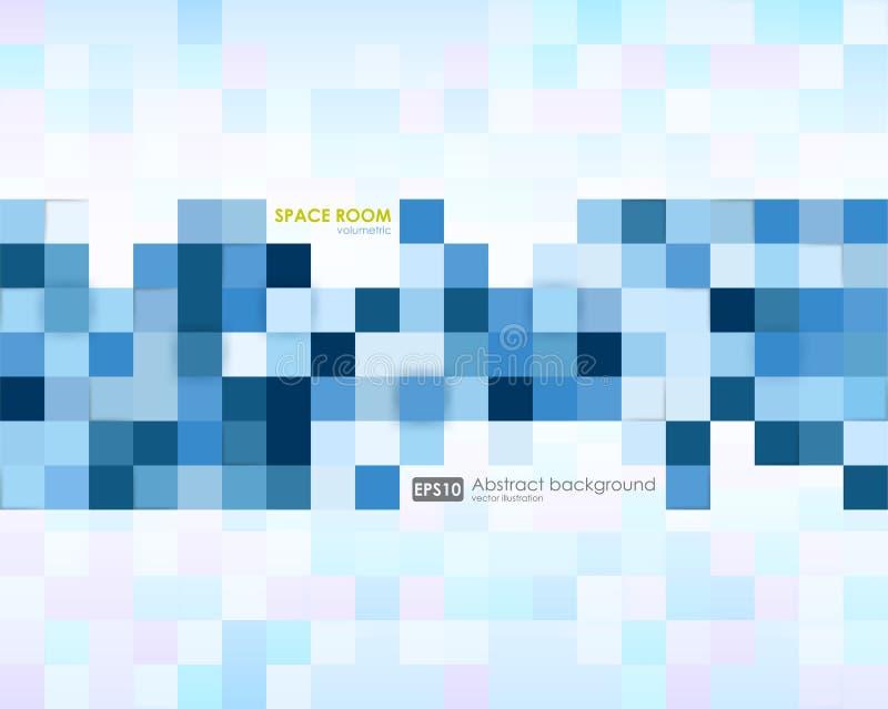 Fond bleu abstrait d'affaires Illustration de texture abstraite avec des places Conception de modèle pour la bannière, affiche illustration libre de droits