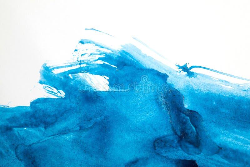 Fond bleu abstrait d'aquarelle photos libres de droits