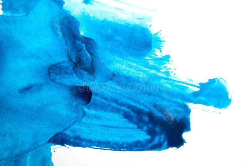 Fond bleu abstrait d'aquarelle image stock