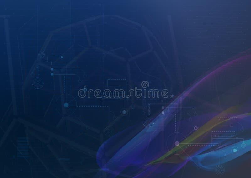 Fond bleu abstrait d'ombre | Conception du vecteur EPS10 illustration libre de droits