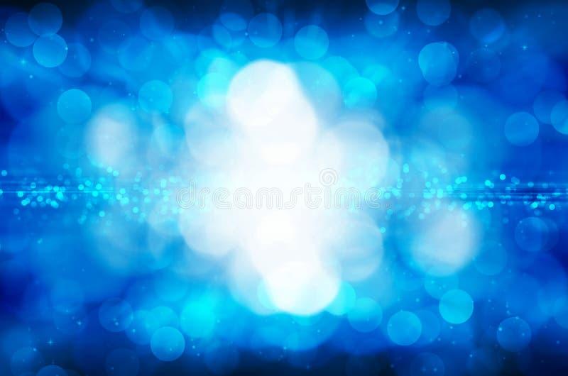 Fond bleu abstrait de bokeh illustration de vecteur
