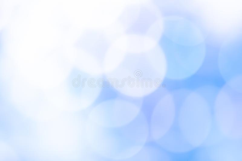 Fond bleu abstrait de couleur de bokeh image stock