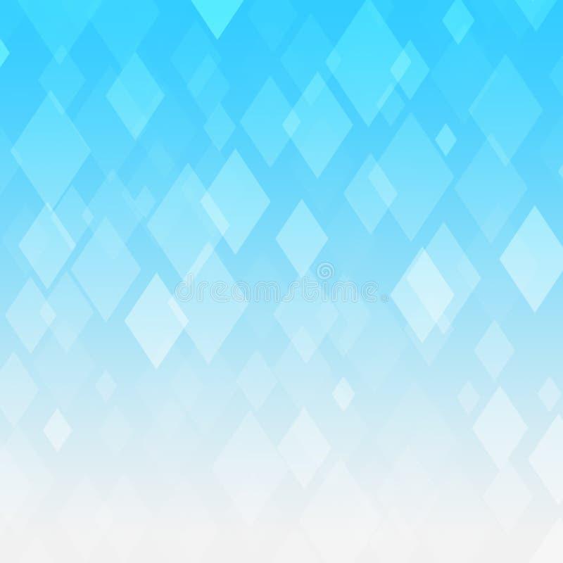 Fond bleu abstrait de losange de gradient illustration stock
