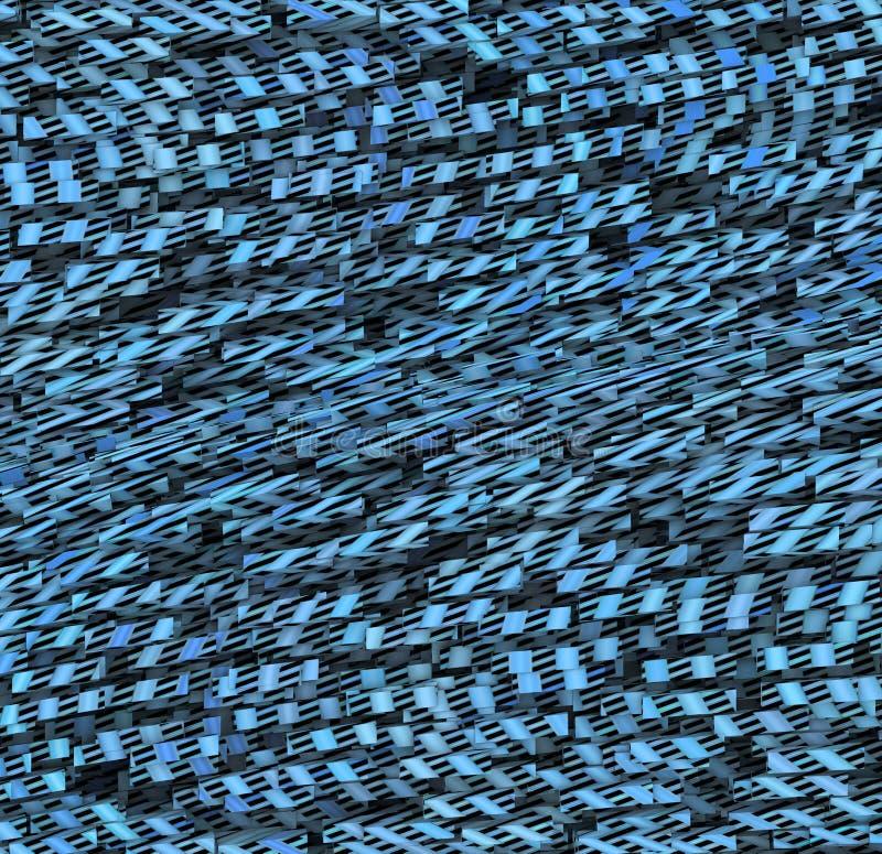 Fond bleu abstrait de mouvement illustration stock