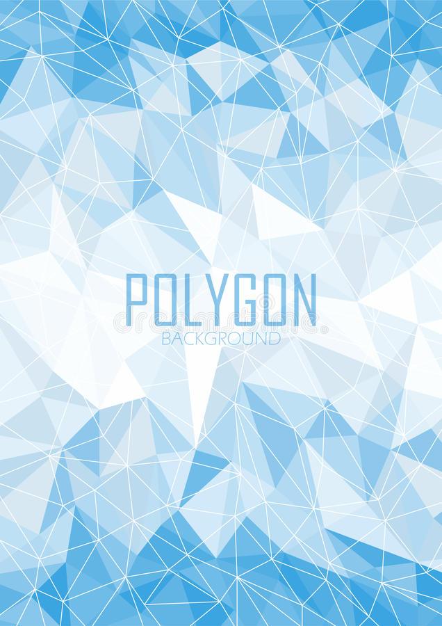 Fond bleu abstrait de polygone illustration stock