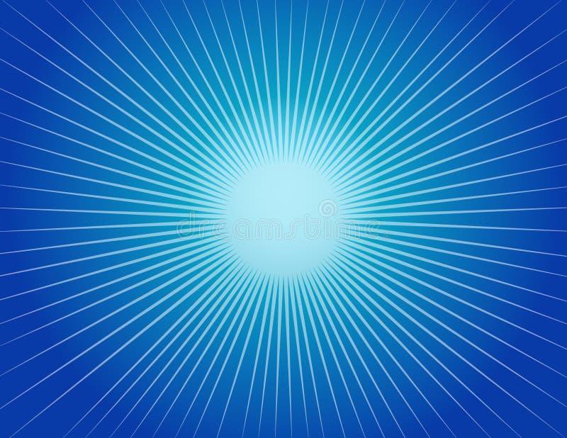 Fond bleu abstrait de Starburst photos libres de droits