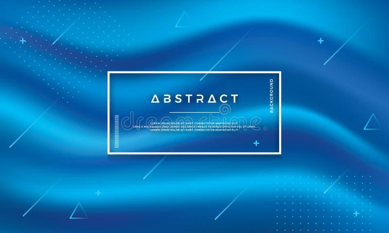 Fond bleu abstrait moderne de vecteur d'écoulement Fond bleu dynamique de vague Des éléments des textes et de conception peuvent  illustration libre de droits