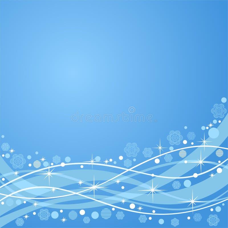 Fond bleu abstrait sur un thème d'an neuf illustration libre de droits