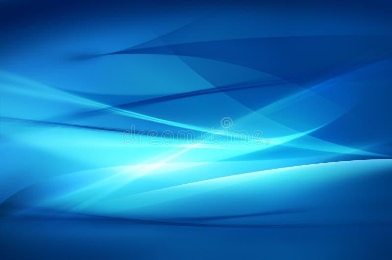 Fond bleu abstrait, texture d'onde illustration stock