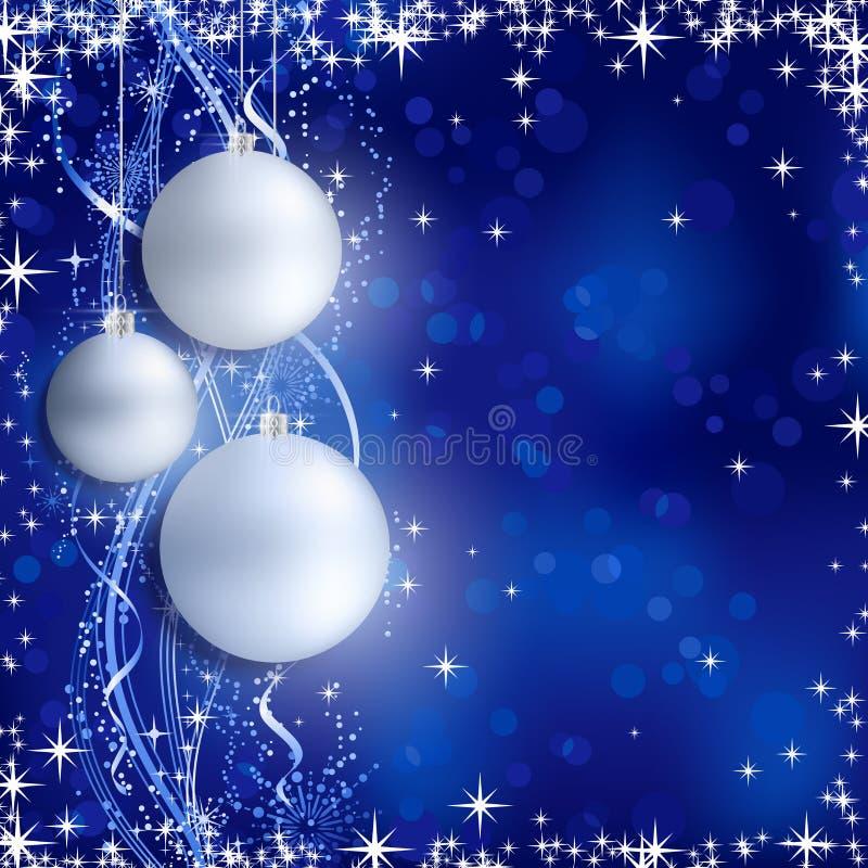 Fond bleu argenté de Noël illustration libre de droits