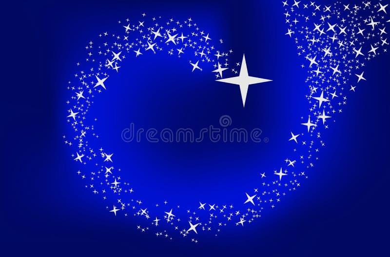 Fond bleu avec des étoiles illustration stock