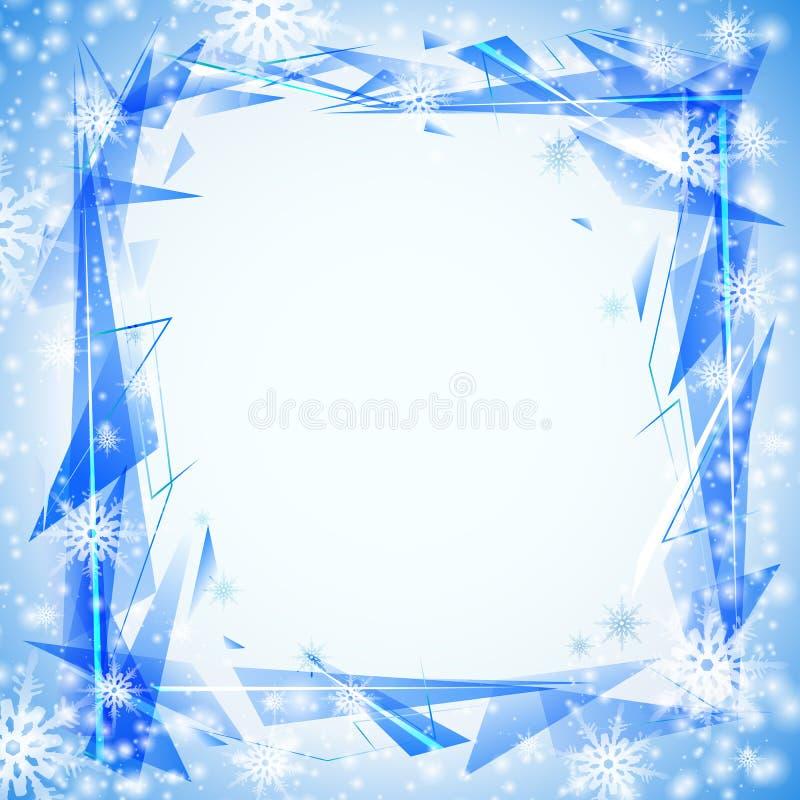 Fond bleu avec des cristals illustration libre de droits
