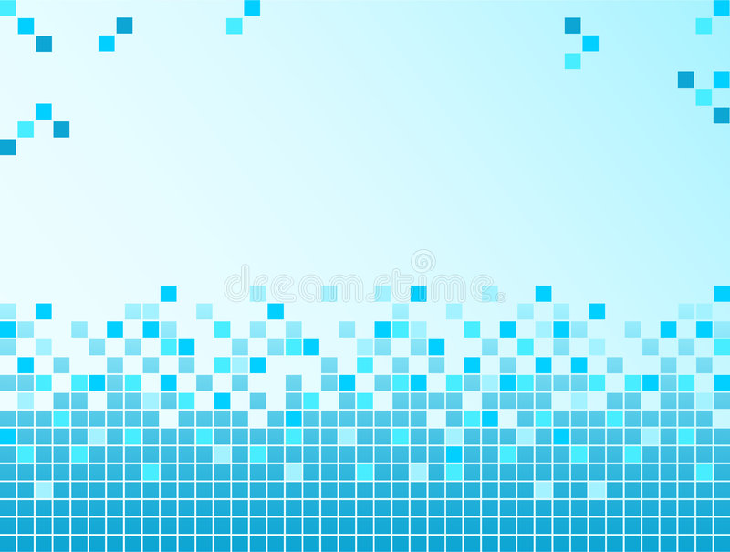 Fond bleu avec des Pixel illustration de vecteur
