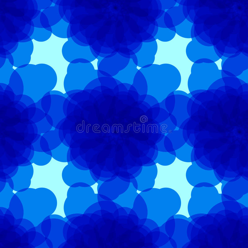 Fond bleu avec les cercles abstraits photo stock