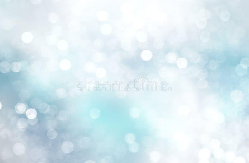 Fond bleu blanc de Noël d'hiver photographie stock