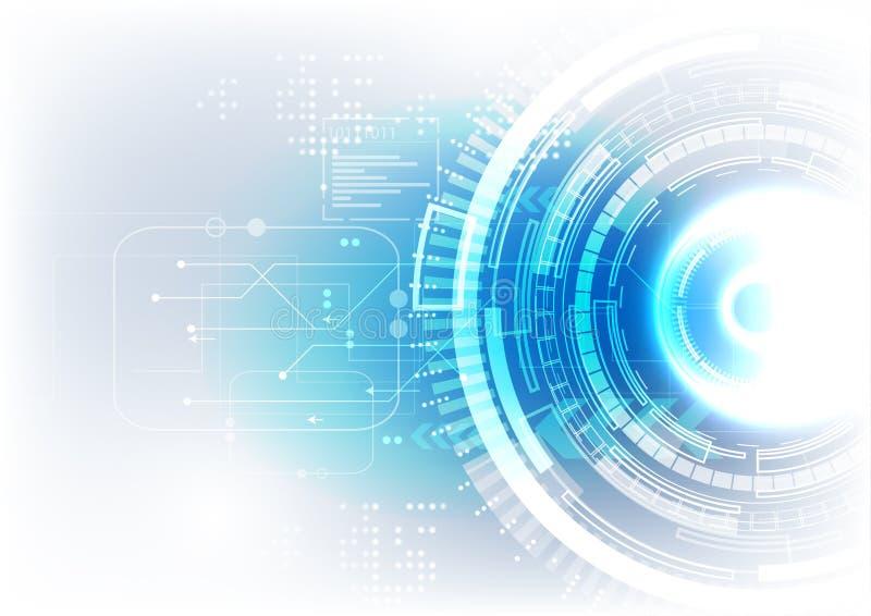 Fond bleu blanc mou de technologie illustration libre de droits