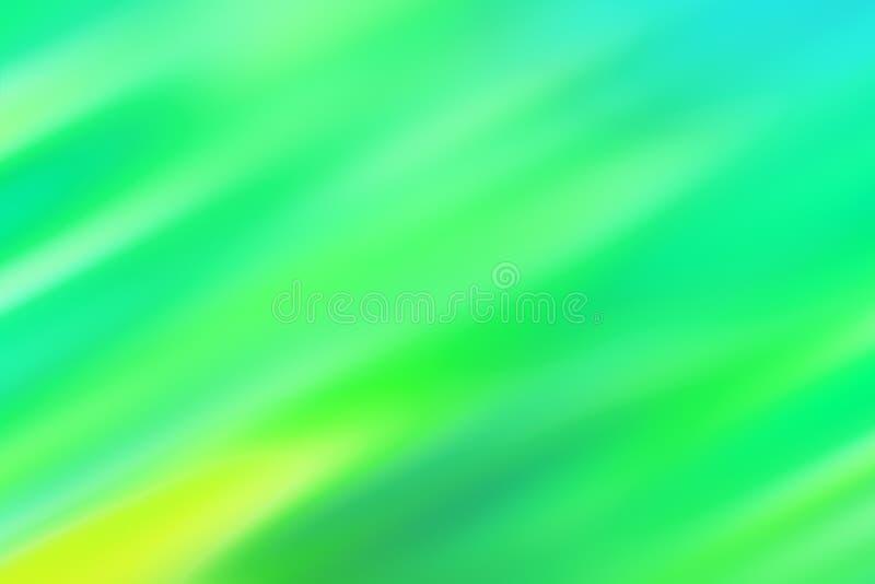 Fond bleu brouillé avec les rayures diagonales vertes et jaunes images libres de droits