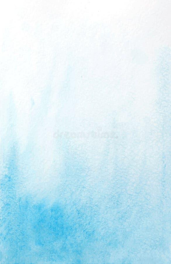 Fond bleu-clair d'aquarelle abstraite illustration stock