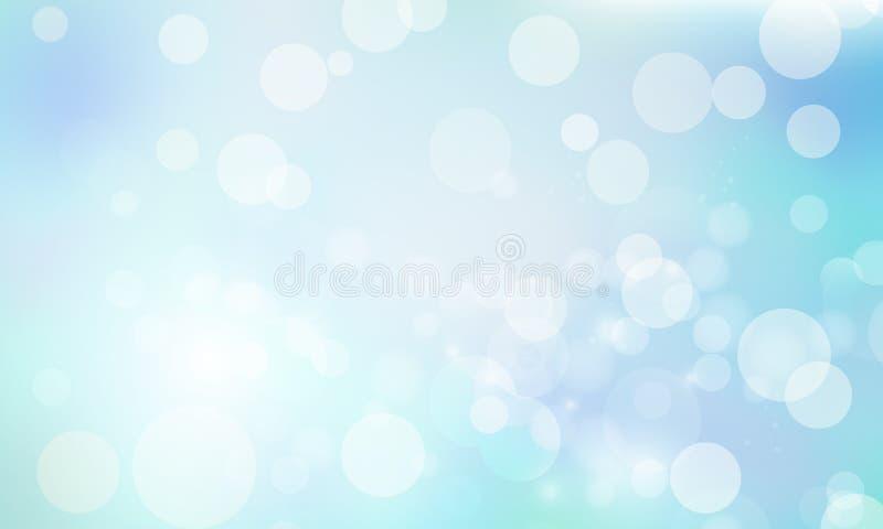 Fond bleu-clair de bokeh illustration de vecteur
