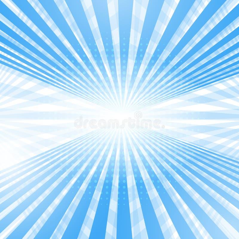 Fond bleu-clair doux abstrait de perspective. illustration libre de droits
