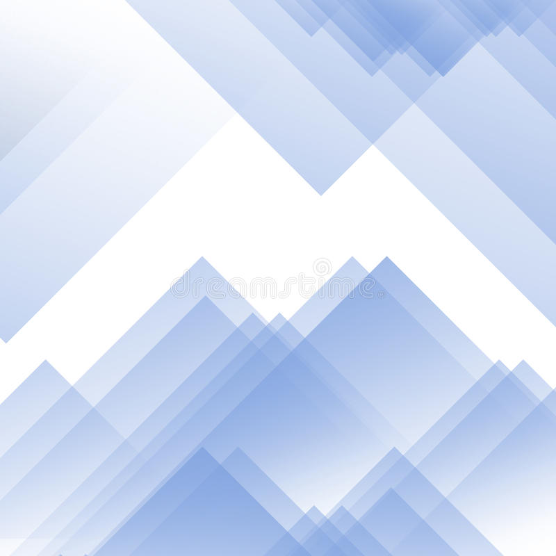 Fond bleu-clair et blanc d'effet de prisme triangulaire avec l'effet en verre Effet de gradient avec des triangles et l'effet d'é photo libre de droits