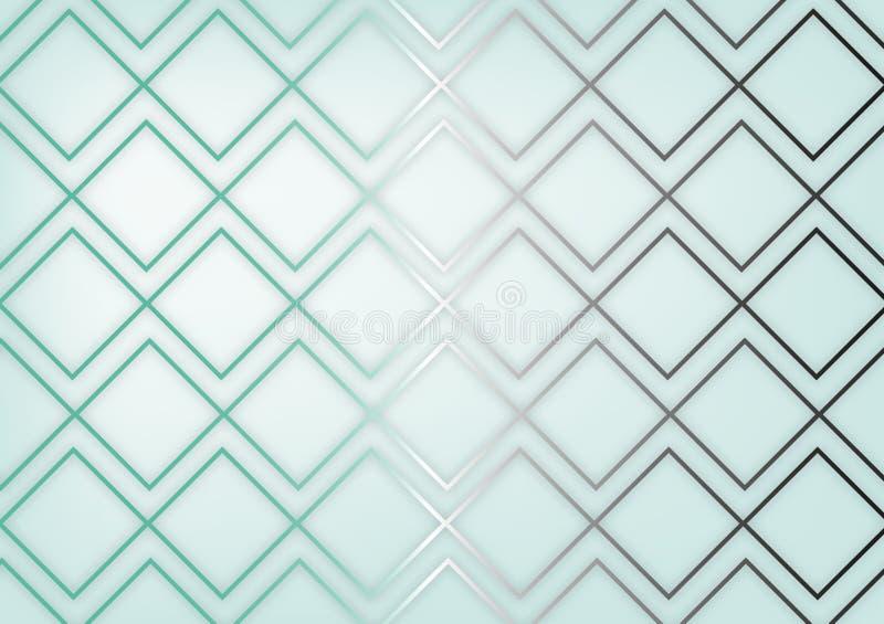 Fond bleu-clair géométrique de luxe image libre de droits