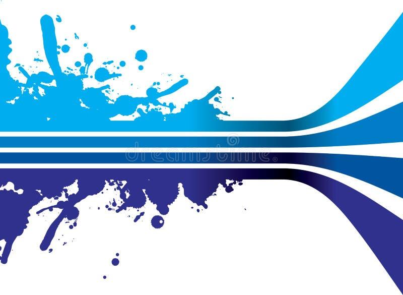 Fond bleu d'éclaboussure illustration stock